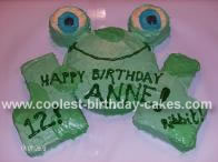Homemade Frog Cake