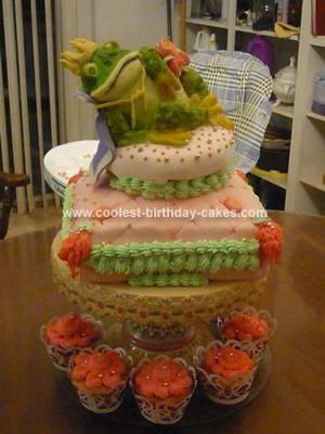 Homemade Frog Prince Cake