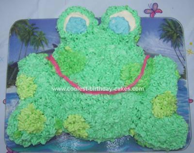 Homemade Froggie Birthday Cake