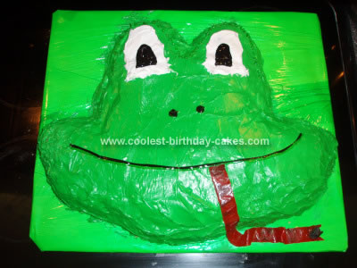 Homemade Froggie Birthday Cake