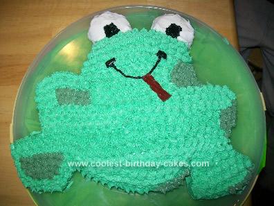 Homemade Froggy Birthday Cake