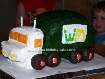 Homemade Garbage Truck Cake