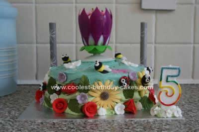 Homemade Garden Birthday Cake