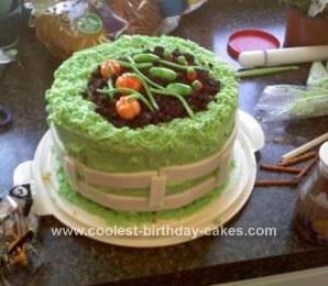 Homemade Garden Cake