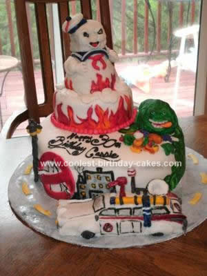 Homemade Ghost Busters Cake
