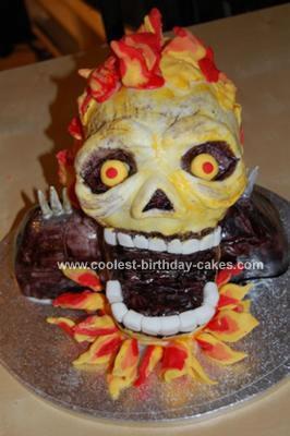 Homemade Ghost Rider Birthday Cake