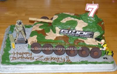 Homemade GI Joe Tank 7th Birthday Cake