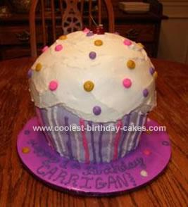 Homemade Giant Cupcake Cake