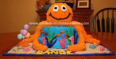 Homemade Giant Octopus Birthday Cake