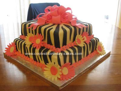 Homemade Gift Box Birthday Cake