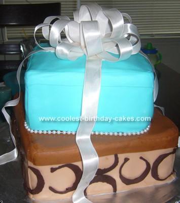 Coach and Tiffany's Gift Box Cake
