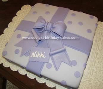 Homemade Gift Wrapped Birthday Cake