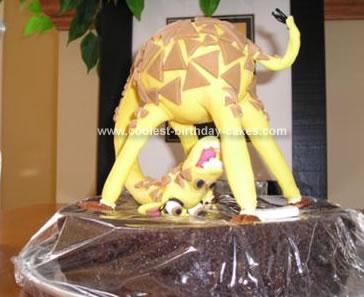 Homemade Giraffe Cake