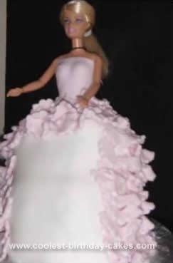 Homemade Girls Barbie Doll Cake