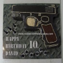 Guns, Rifles and Targets Birthday Cakes