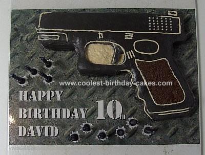 Homemade Glock® NSW Police Handgun Cake