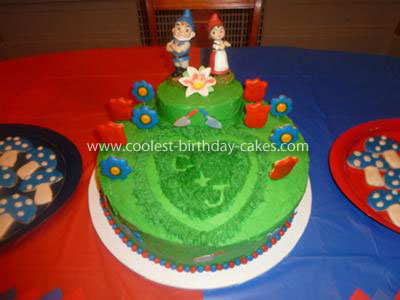 Coolest Gnomeo and Juliet Birthday Cake