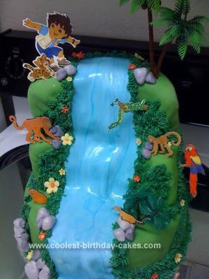 Homemade Go Diego Cake Birthday Cake
