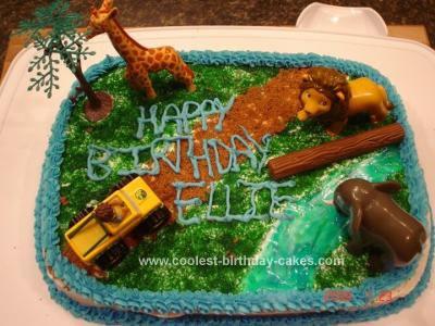 Homemade Go Diego Go Theme Cake
