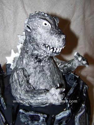Homemade Godzilla Birthday Cake Design