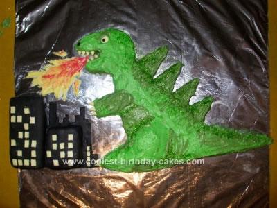 Coolest Godzilla Cake 8
