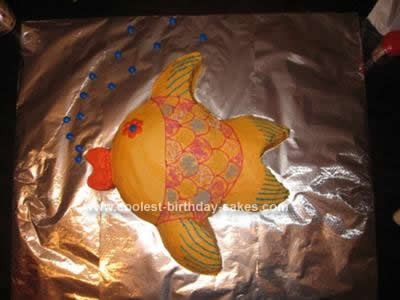 Homemade Goldfish Birthday Cake