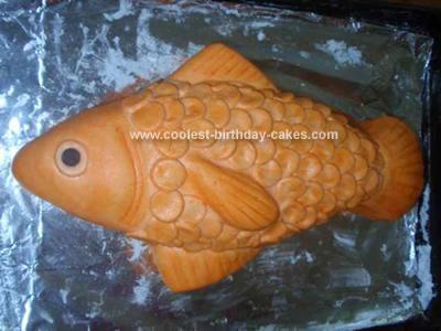 Homemade Goldfish Cake