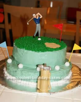 Homemade Golf Cake