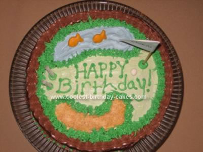 Coolest Golf Course Birthday Cake 25