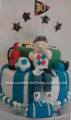 Homemade Golf Theme 30th Birthday Cake