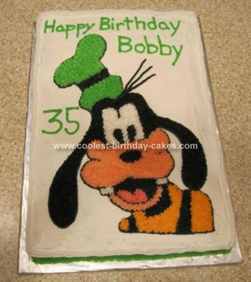 Homemade Goofy Birthday Cake