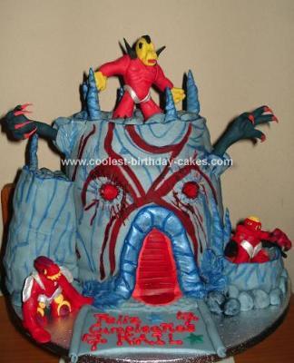 HomemadeGormiti Fire Mountain Volcano cake