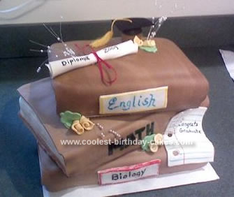 Homemade Graduation Book Cake