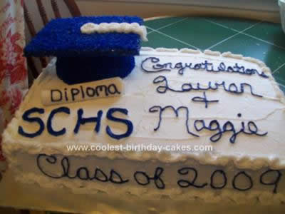 Homemade Graduation Cake