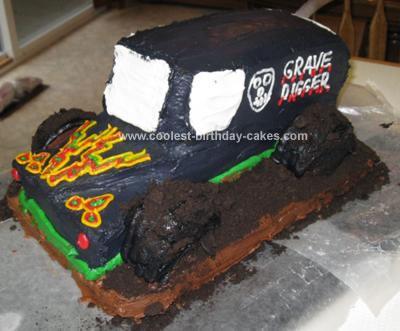 Homemade Grave Digger Truck Cake 32