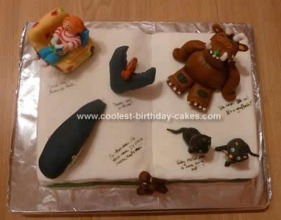 Homemade Gruffalo and other Julia Donaldson Stories Cake