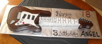 Homemade Guitar Birthday Cake