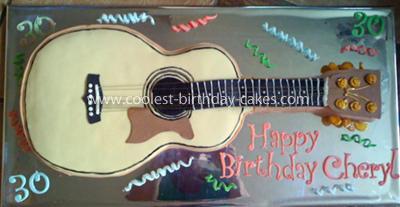 Coolest Guitar Birthday Cake