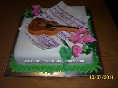 Homemade Guitar Cake