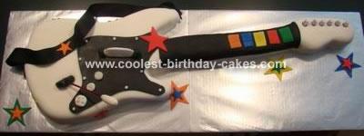 Guitar Hero Cake