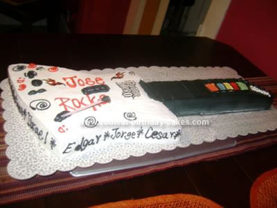 Homemade Guitar Hero Cake