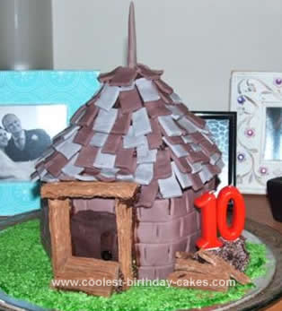 Homemade Hagrid's Hut Cake