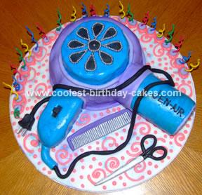 Hair Dryer Cake