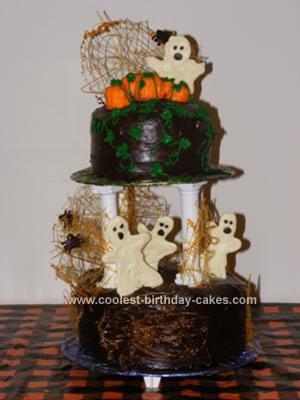 Homemade Halloween Cake