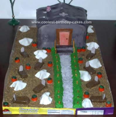 Homemade Halloween Cake Design