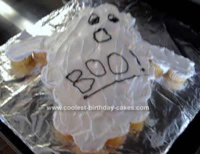 Homemade Halloween Ghost Cake