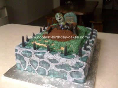 Halloween Birthday Cake on Coolest Halloween Graveyard Cake 26