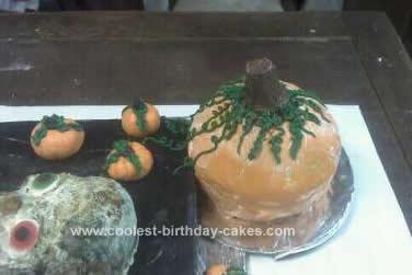 Homemade Halloween Skeleton Birthday Cake