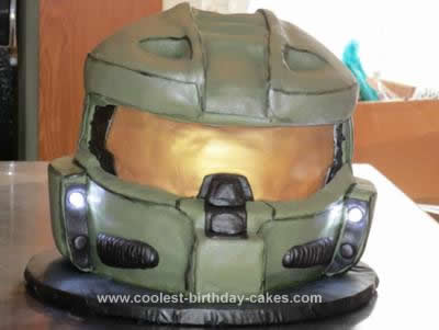 Homemade Halo Master Chief Cake