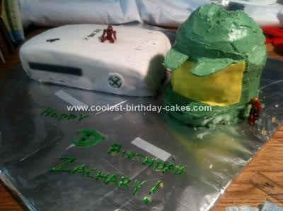 Homemade Halo X-Box Cake